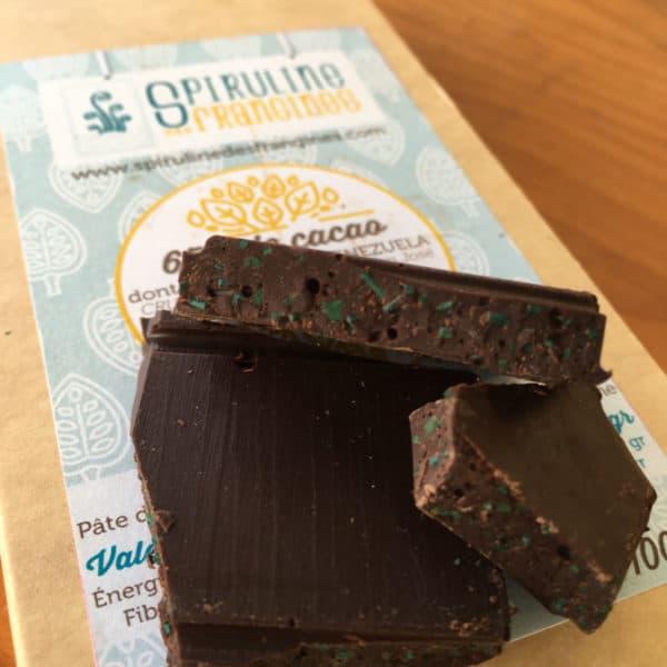 Chocolat à la Spiruline en morceau
